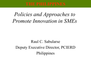 4 - Promoting Innovation in Philippine SMEs