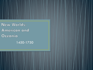 New Worlds -America and Oceania