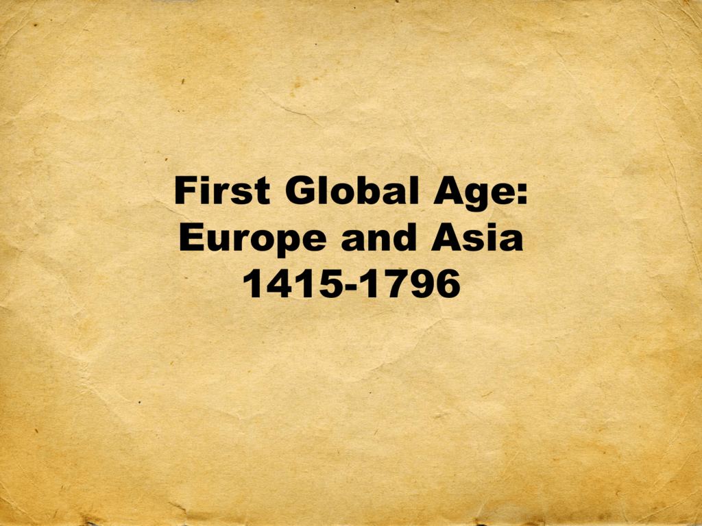 first global age