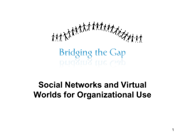 Social Networks and Virtual Worlds for