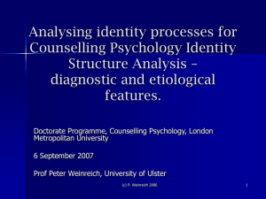 Analysing identity processes for Counselling Psychology Identity