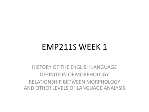 EMP211S-2015-HISTORY OF THE ENGLISH LANGUAGE OLD