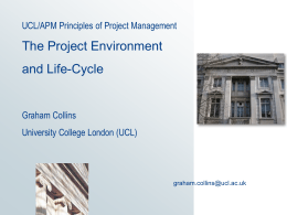 Z13: Project Management - UCL Computer Science