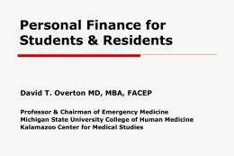 Personal Finance for Young Physicians