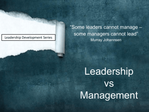 MVCManagement vs Leadership 101713