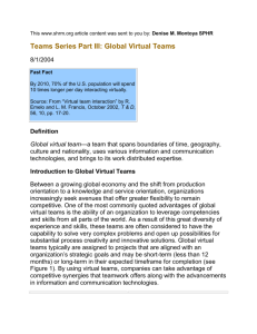 Team Series Part III - Global Virtual Teams