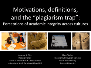 """Plagiarism Trap"": Perceptions of Academic Integrity Across Cultures"
