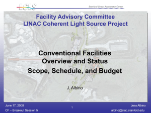 Conventional Facilities Overview