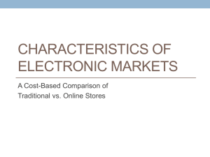 Characteristics of Electronic Markets