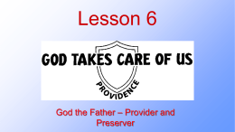 God the Father Preserver and Protector