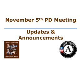 November 5, 2014 Program Director Meeting Powerpoint