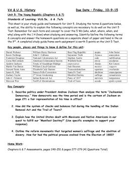 unit 3 apush study guide