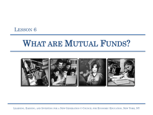 Lesson 6 – What are Mutual Funds? - Learning, Earning, and Investing