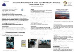 Development of innovative products made of flax chaff for adsorption