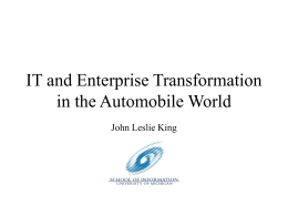 IT and Sectoral Transformation in the Automobile World