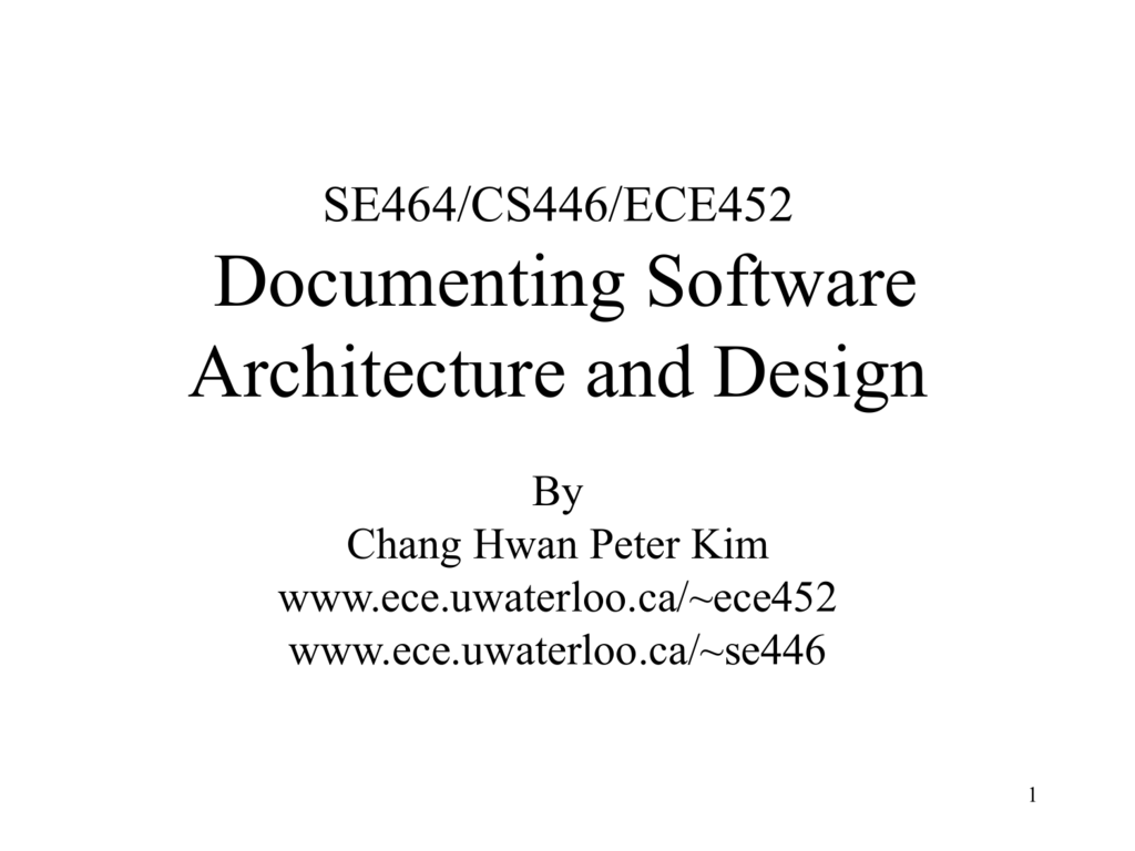 Documenting Software Architecture Tutorial