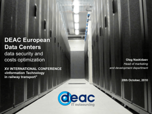 DEAC European data centers – data safety and cost optimization
