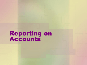 Reporting on Accounts