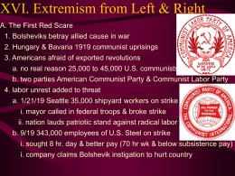 Extremism from the Left and Right - Cal State LA