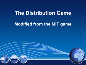 The Distribution Game - Transportation Careers