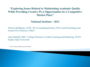 *Exploring Issues Related to Maintaining Academic Quality While