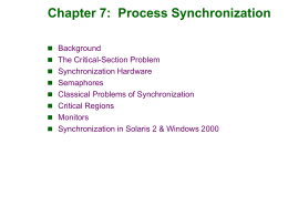 Module 7: Process Synchronization