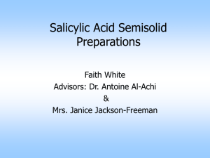Salicylic Acid Semisolid Preparations