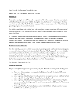 hotel rwanda essay paul Comprehension and discussion activities for the movie hotel rwanda this module has been designed to accompany the film hotel rwanda (2004) hotel rwanda is based on real.