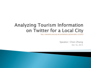 Analyzing Tourism Information on Twitter for a Local City
