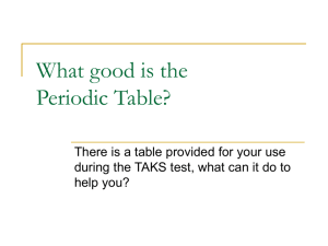 What good is the Periodic Table?