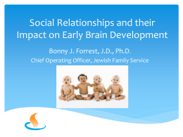Social Relationships and their Impact on Early Brain Development
