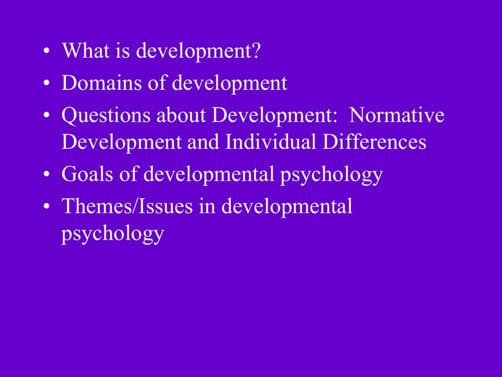 normative development