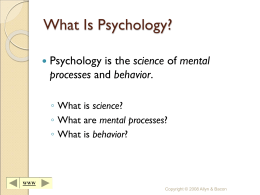 Fundamentals of Psychology