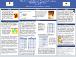 Minnesota Multiphasic Personality Inventory Poster