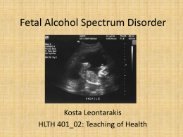 Fetal Alcohol Syndrome Essays (Examples)
