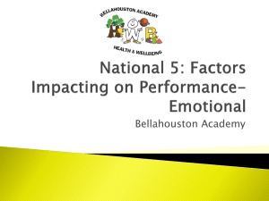 Emotional - Bellahouston Academy