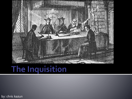 The Inquisition - St John Brebeuf