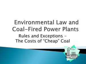 Environmental Law and Coal