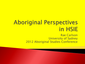 Aboriginal Perspectives in HSIE - Aboriginal Studies Association