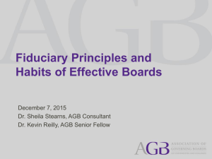 Fiduciary Principles and Habits of Effective Boards