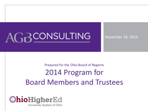 2014 Program for Board Members and Trustees, Association of