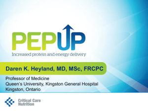 PEP uP - Critical Care Nutrition