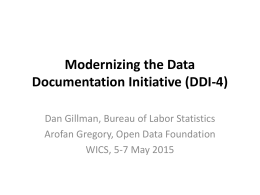 Modernizing the Data Documentation Initiative (DDI-4)