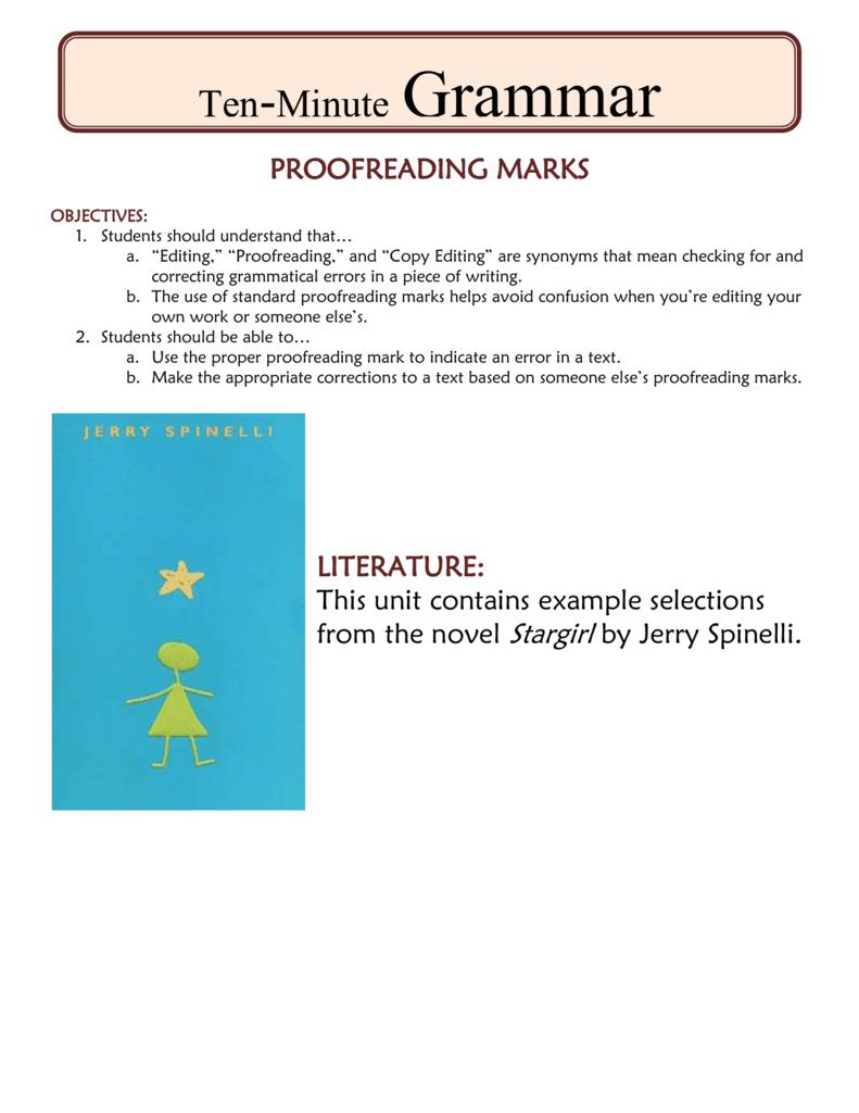 Proofreading Marks Lhhs