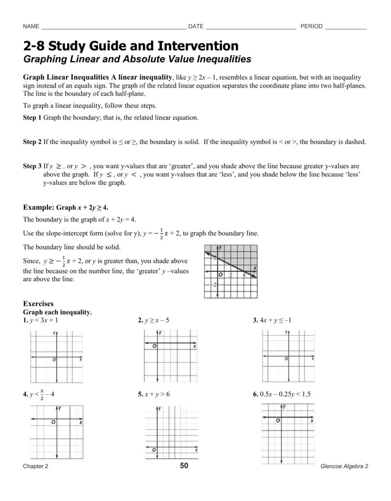 ... Study Guide And Intervention Vs. Handout Erickson Math