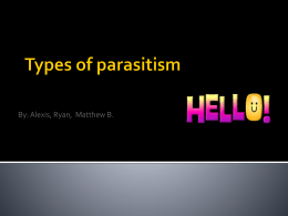 Types of parasitism