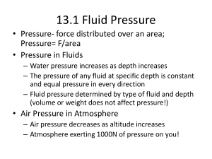 13.1 Fluid Pressure - Ms. Hill's Website
