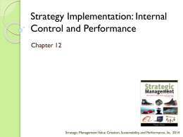 Strategy Implementation: Internal Control and Performance