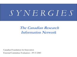 synergies - University of Calgary