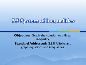 7.5 System of Inequalities
